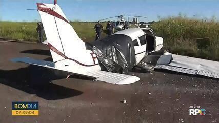 Avião de pequeno porte faz pouso forçado em Maringá