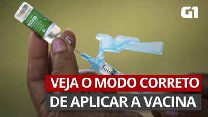 VÍDEO: veja o modo correto de aplicar a vacina