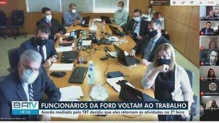 Trabalhadores e Ford fecham acordo parcial e produção será retomada na segunda-feira