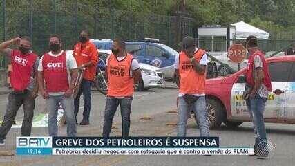 Petroleiros da refinaria Landulfo Alves retomam atividades após decretarem greve