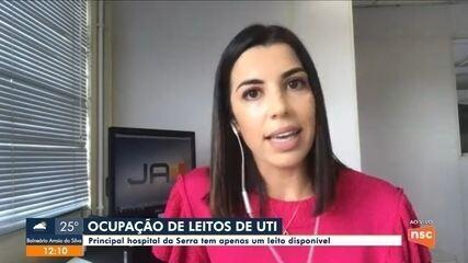 Principal hospital da Serra de SC tem um leito de UTI disponível
