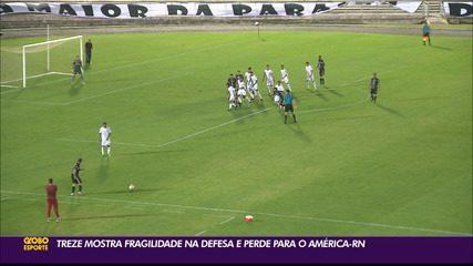 América-RN derrota o Treze em amistoso disputado no Amigão, em Campina Grande