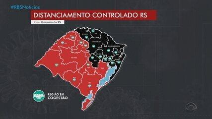 Com 11 regiões em bandeira preta, governo do RS suspende atividades entre 22h e 5h