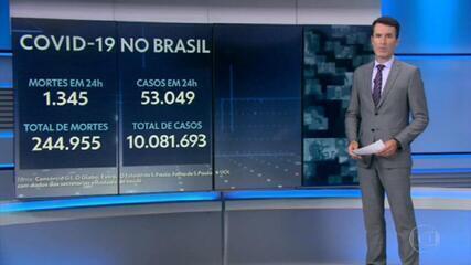 Brasil registra 1.345 mortos por Covid nas últimas 24 horas