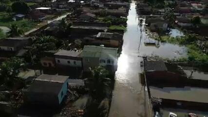 Tarauacá, no Acre, sofre uma das maiores enchentes de sua história