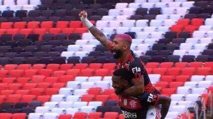 Gols do Fantástico: Flamengo vence o Inter, e decisão do título fica para a última rodada