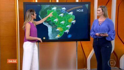 Meteorologia alerta para chuva forte no ES nesta segunda-feira (22); tempo fica firme no norte do PR