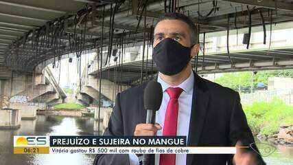 Roubo de fios de cobre gera prejuízo e poluição em Vitória
