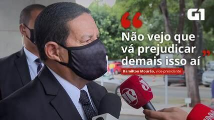 Troca na Petrobras: 'Não vejo que vá prejudicar demais isso ai', diz Mourão sobre movimentação no mercado
