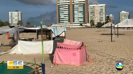 Ambulantes acionam Justiça para tentar permanecer na praia da Cinelândia
