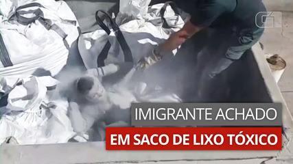 VÍDEO: imigrante é encontrado escondido em saco de lixo tóxico na Espanha