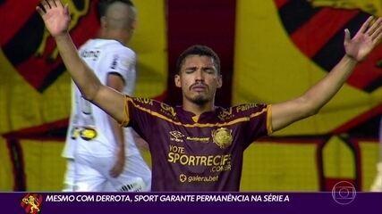 Sport perde para o Atlético-MG, mas garante vaga na Série A 2021