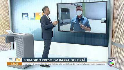 Preso suspeito de participar de tentativa de homicídio no ano passado em Barra do Piraí