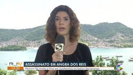 Homem é assassinado a tiros em condomínio no bairro Jacuecanga, em Angra dos Reis