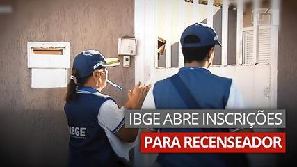 IBGE abre inscrições para 181.898 vagas de recenseador