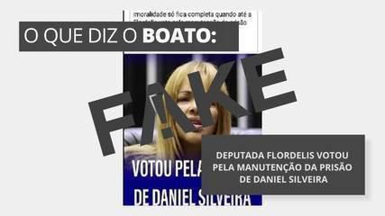 É #FAKE que deputada Flordelis votou pela manutenção da prisão de Daniel Silveira