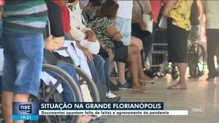 Documentos apontam falta de leitos e agravamento da pandemia na Grande Florianópolis