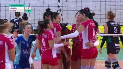 Melhores momentos: Brasília 0 x 3 Osasco pela Superliga Feminina de Vôlei