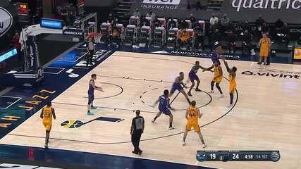 Melhores momentos: Utah Jazz 132 x 110 Charlotte Hornets pela NBA