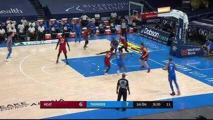 Melhores momentos: Oklahoma City Thunder 94 x 108 Miami Heat pela NBA