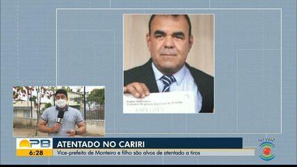 Vice-prefeito de Monteiro e filho são alvos de atentado a tiros