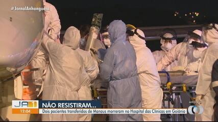 Dois pacientes transferidos de Manaus morreram no Hospital das Clínicas em Goiânia