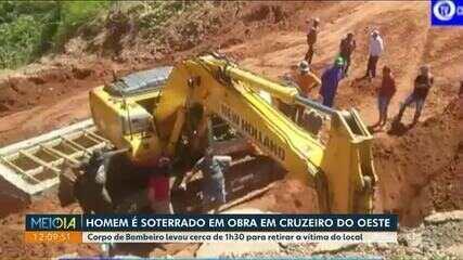 Homem é soterrado em obra em Cruzeiro do Oeste
