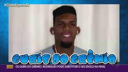Os guris do Grêmio: Rodrigues pode substituir o seu ídolo na final