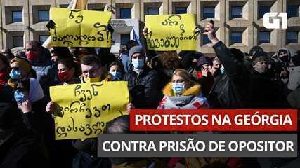 VÍDEO: Geórgia tem protesto após prisão de líder da oposição