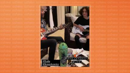 Filha de Jennifer Lopez ganha aula de guitarra com Lenny Kravitz