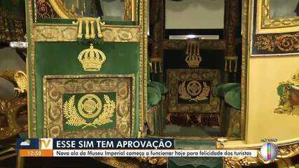 Nova ala do Museu Imperial volta a funcionar nesta terça-feira em Petrópolis