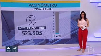 Minas vacinou pouco mais de 523 mil pessoas contra a Covid-19