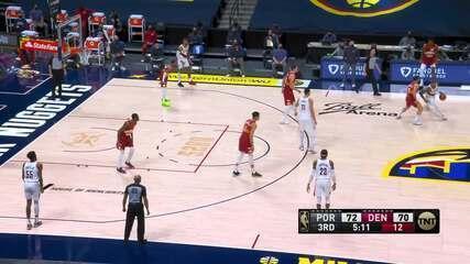 Melhores momentos: Denver Nuggets 111 x 106 Portland Trail Blazers pela NBA