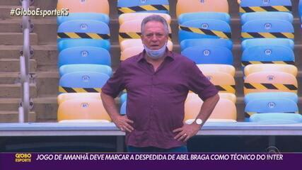 Jogo contra o Corinthians deve marcar a despedida de Abel Braga como técnico do Inter