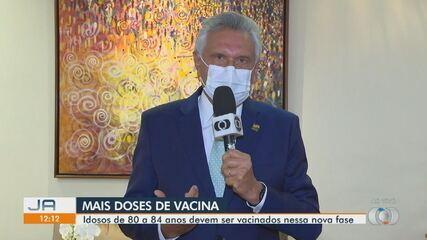 Governador Ronaldo Caiado fala sobre chegada de novas doses da vacina contra a Covid-19