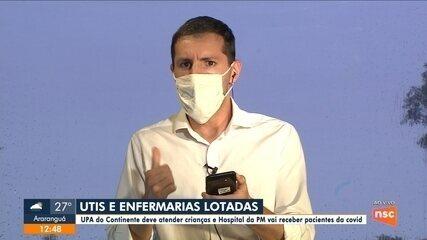 Grande Florianópolis registra UTIs e enfermarias lotadas