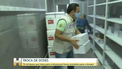 Amazonas já recebeu as doses da vacina contra a Covid que foram enviadas para o Amapá por engano