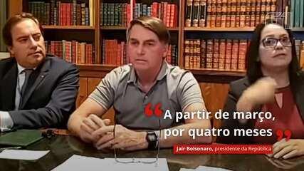VÍDEO: Bolsonaro prevê novo auxílio-emergencial 'a partir de março, por quatro meses'