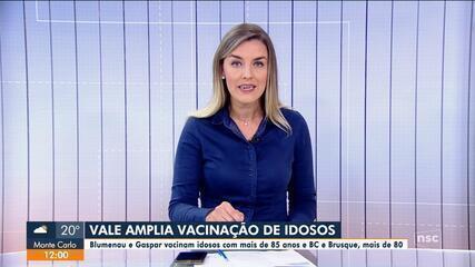 Vale do Itajaí amplia vacinação de idosos
