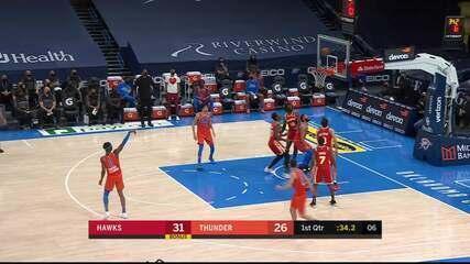 Melhores momentos:Oklahoma City Thunder 118 x 109 Atlanta Hawks pela NBA