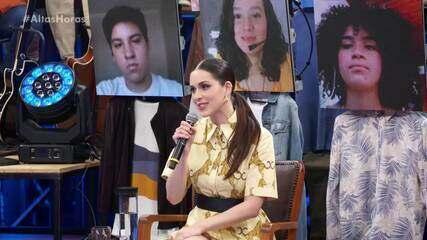 Sophia Abrahão fala sobre os cuidados e dasafios nas gravações durante a pandemia