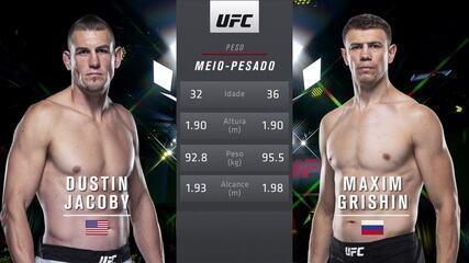 UFC Rozenstruik x Gané - Dustin Jacoby x Maxim Grishin