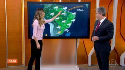 Meteorologia prevê chuva para o Norte do país nesta segunda-feira (1º)