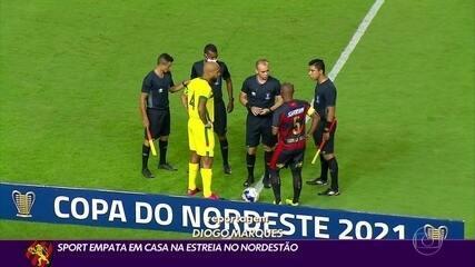 Sport fica no empate em com o Sampaio Corrêa na estreia da Copa do Nordeste