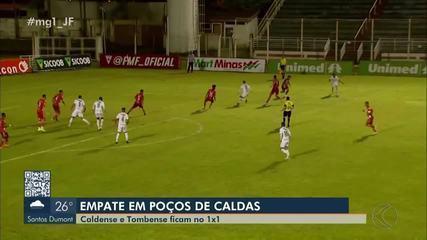 Tombense sai na frente, mas sede empate à Caldense no Ronaldão