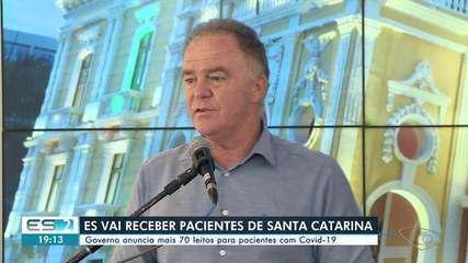 ES vai receber pacientes de Santa Catarina para tratar a Covid-19