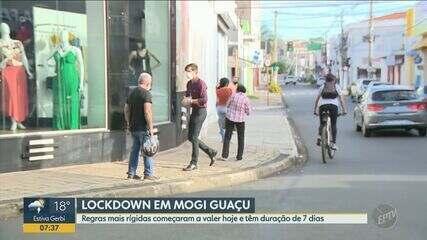 Veja como está o 1º dia de restrição na circulação para conter a Covid-19 em Mogi Guaçu