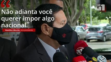 VÍDEO: 'Não adianta você querer impor algo nacional', diz Mourão sobre pedido de medidas mais restritivas