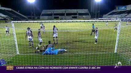Ceará estreia na Copa do Nordeste com empate com o ABC