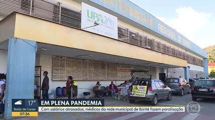 Com salários atrasados, médicos da rede municipal de Ibirité fazem paralisação